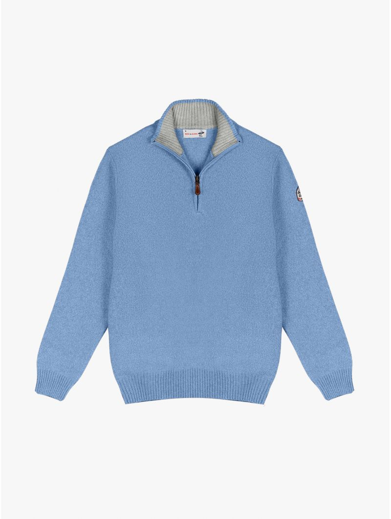 PULL COL MONTANT ZIPPE