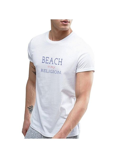 TEE SHIRT BEACH IS MY RELIGION