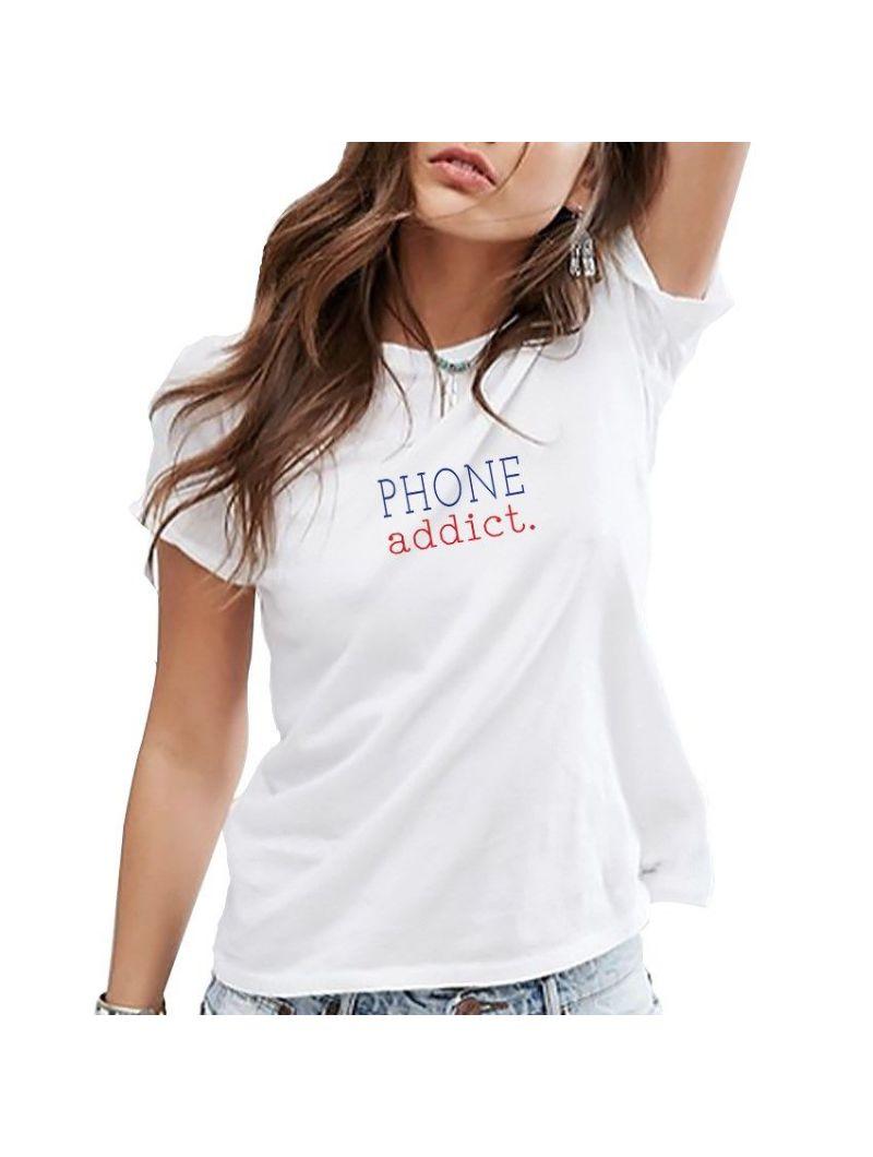 TEE SHIRT FEMME PHONE ADDICT
