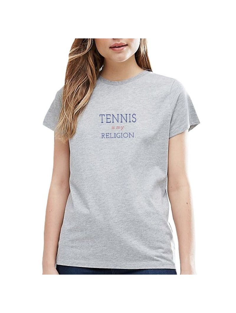 TEE SHIRT FEMME TENNIS IS MY RELIGION